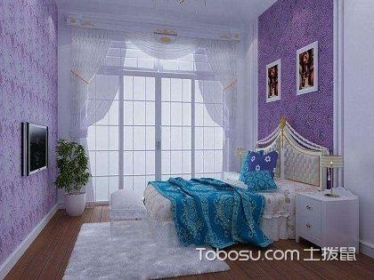 女生卧室墙壁纸选择,房间装修注意事项