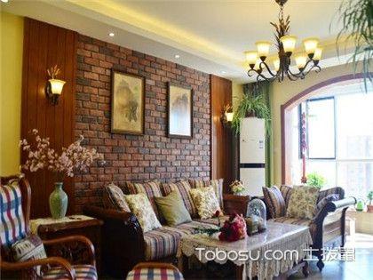 宜兴美式沙发背景墙装饰,美式风格背景墙欣赏