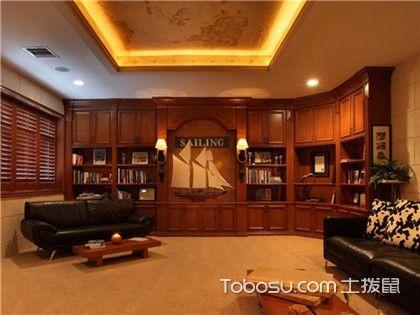 實木拐角書柜怎么選購?書房擺放實木轉角書柜好不好?