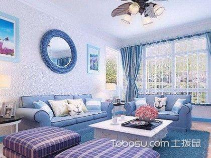 地中海风格装修图片客厅,海洋般的梦幻客厅