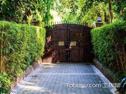 庭院门口设计效果图,宁静舒心别有洞天