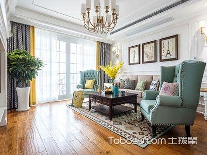 130平米装修预算案例介绍,25万打造特色美式三居室