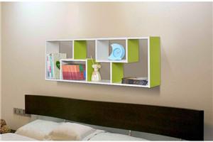 透光简约书架带折叠桌板 效果图