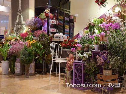 商場花店裝修效果圖,花香四溢奪人芳心