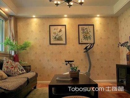 客厅贴墙布装修效果图,给你不一样的视觉体验