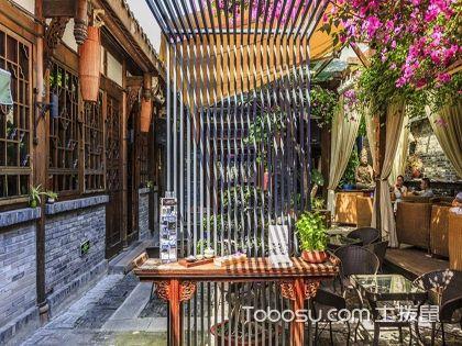 新中式庭院装修效果图,宁静通幽的惬意空间