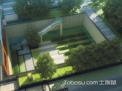 下沉式新中式庭院设计说明,5款下沉式新中式庭院设计图赏析