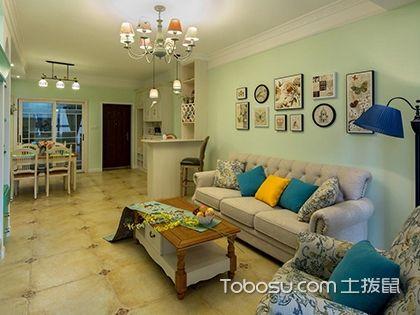 梧州田园风格设计,100平三室两厅清新田园风格