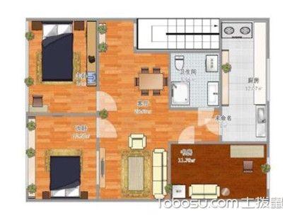 95平米三室一厅户型图,小空间也能有大作为