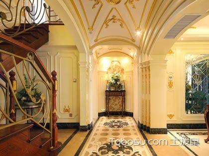 别墅玄关设计实例图片,进门之景也能这般优雅