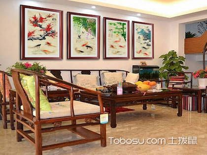 客厅红木沙发背景墙,三种不同风格快来pick吧