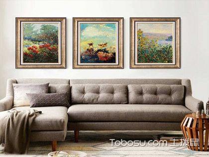 客厅沙发背景墙挂画,选择漂亮的挂画提升客厅档次