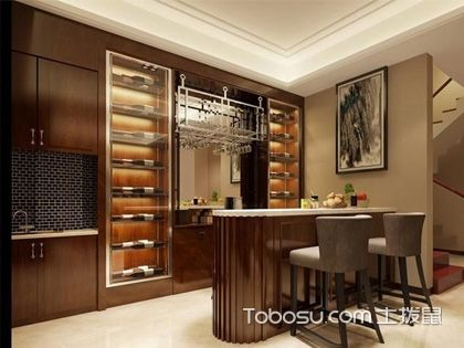 酒柜吧臺的一體設計,分分鐘提升家居品味
