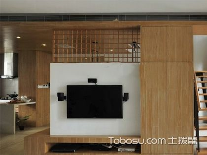日式电视背景墙设计效果图,简约日式也能创意十足