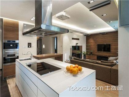 敞开式厨房装修效果图,这样的厨房你也值得拥有!