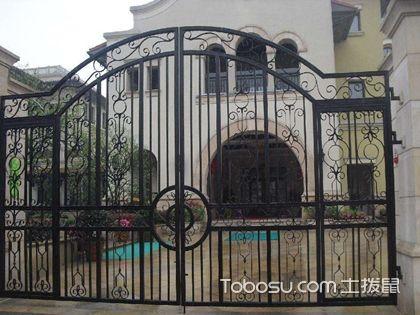 庭院鐵藝大門圖片大全,這樣的鐵藝大門很好看