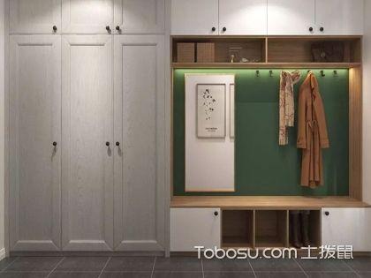 進門鞋柜帶衣柜實物圖,實用美觀兩不誤
