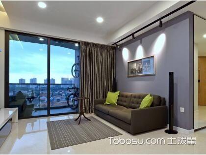 客厅玻璃门装修效果图,让空间变得更加有层次感