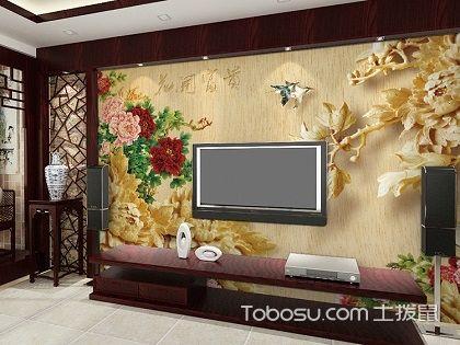 手绘客厅电视背景墙,不一样的装修效果体验