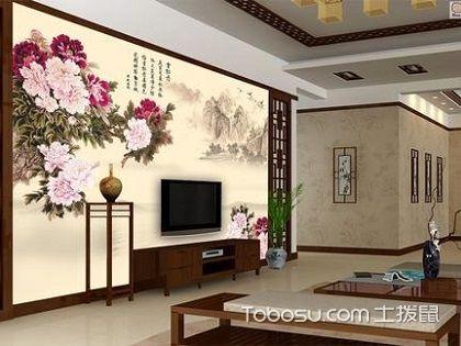 客廳手繪電視背景墻,讓客廳裝修檔次直線上升