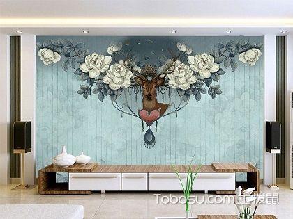 手绘客厅电视背景墙,客厅电视背景墙装修注意