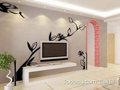 家居手绘电视背景墙,别样多变的自然美