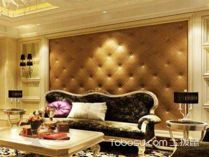欧式风格沙发背景墙效果图,让客厅变得典雅精致