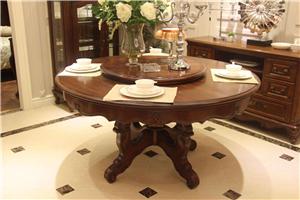 【圆形餐桌】圆餐桌尺寸_实木圆餐桌_玻璃餐桌_图片