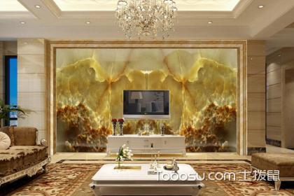 大理石装修客厅背景墙,客厅电视背景墙使用大理石装修方法
