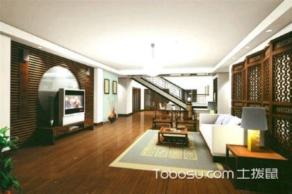 中式风格客厅装饰图,家装设计中的水墨画
