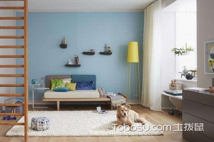 淡蓝色客厅装修效果图,喜欢的颜色就应该这么用