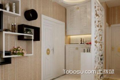 门口衣柜加鞋柜的设计,一体化效果图赏析