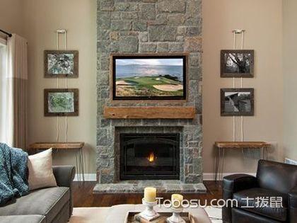 文化石电视背景墙图片,文化石背景墙设计图欣赏