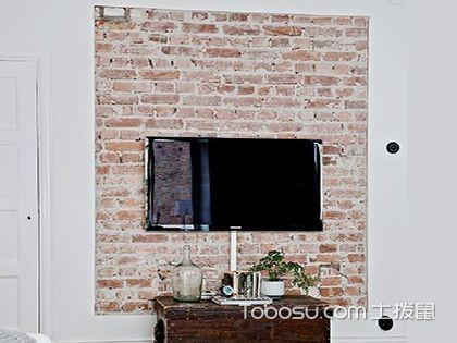砖块电视背景墙,电视背景墙装饰效果图