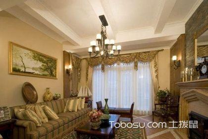 复式楼美式窗帘设计,让您的住宅更加温馨自然