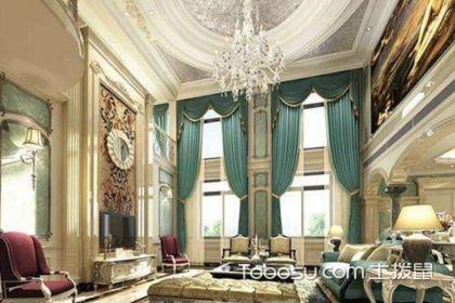 挑高别墅客厅装修实景,这样设计更好看