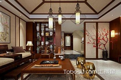 新古典中式风格别墅,别墅客厅装修效果图