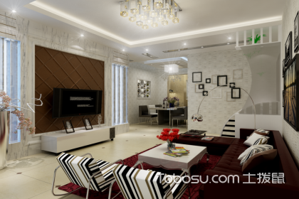 現代簡約客廳頂案例,簡約時尚不失美麗