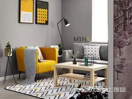 80平米北欧风格设计,鲜亮橙元素所带来的活力空间
