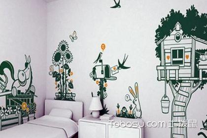 儿童房手绘效果图,这样装修更具有童趣
