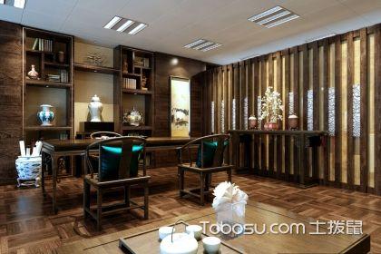新中式办公室装修效果图,新中式办公室设计案例欣赏