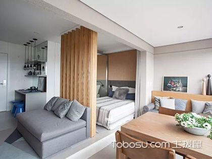 33平米小公寓装修图,用原木打造出的温馨小窝