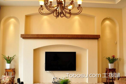 美式电视墙装修效果图,美式电视墙如何装修设计