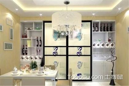 5款厨房门口酒柜效果图,实用又有格调!