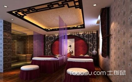 中式装修美容院,感受中式之美