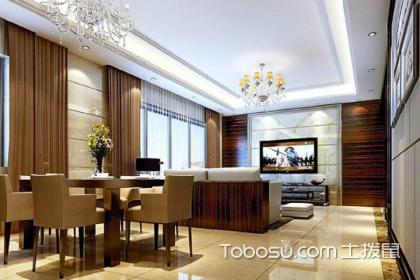 客餐厅一体装修实景,客厅餐厅装修效果图
