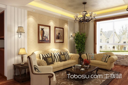 小美式风格客厅效果图,美式客厅如何装修设计