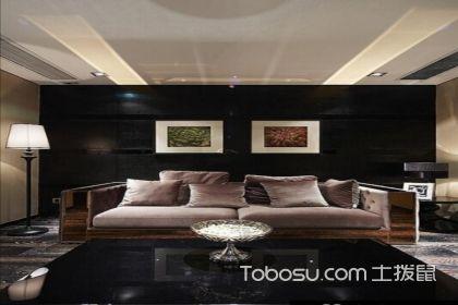 黑色沙发背景墙,让我们的客厅更加引人瞩目!