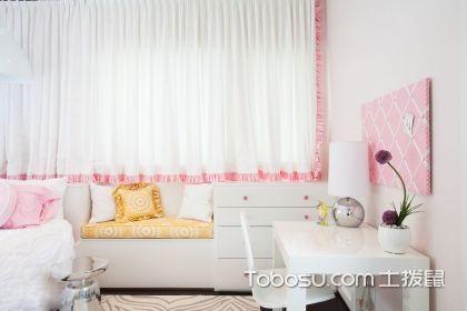 女孩儿童房窗帘图片,给她一个舒适的环境