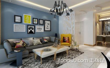 蓝色沙发背景墙,这样设计让你更惊艳